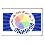 Proud of Obama Vote Banner