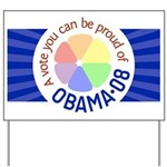 Proud of Obama Vote Yard Sign