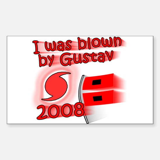 Hurricane Gustav Rectangle Decal