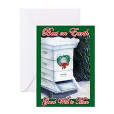Merry Christmas Bee Hive Greeting Card