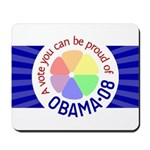 Proud of Obama Vote Mousepad