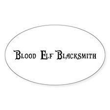 Blood Elf Blacksmith Oval Decal