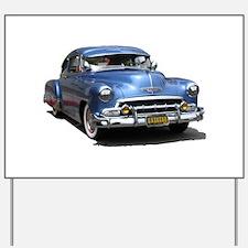 Helaine's 52 Old Blue Car Yard Sign