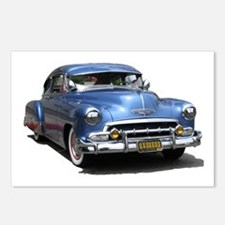 Helaine's 52 Old Blue Car Postcards (Package of 8)