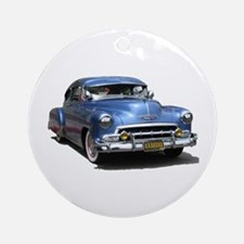 Helaine's 52 Old Blue Car Ornament (Round)