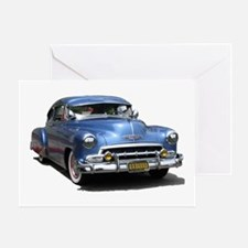 Helaine's 52 Old Blue Car Greeting Card