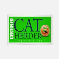 Cat Herder 3 Green png Magnets