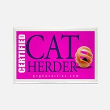 Cat Herder 3 Fusia png Magnets