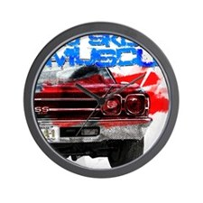 OL Skool 69 Chevelle Wall Clock