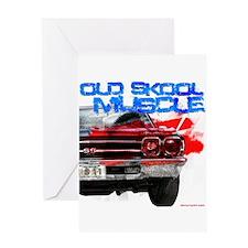 OL Skool 69 Chevelle Greeting Card