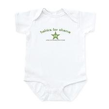 Babies For Obama Green Infant Bodysuit