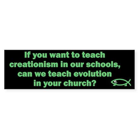 If you teach creationism, can we teach evolution?
