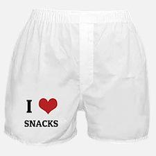 I Love Snacks Boxer Shorts