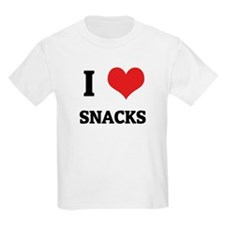 I Love Snacks Kids T-Shirt