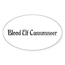 Blood Elf Cannonneer Oval Decal