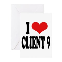 I Love Client 9 Greeting Cards (Pk of 20)