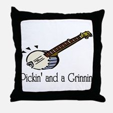 Pickin and Grinning Throw Pillow