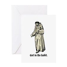 """""""Get in the habit."""" Greeting Card"""