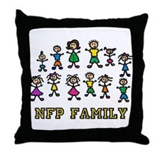 """""""NFP Family"""" Throw Pillow"""