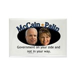 McCain/Palin On Your Side Rectangle Magnet