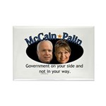 McCain/Palin On Your Side Rectangle Magnet (100 pa