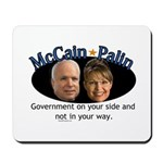 McCain/Palin On Your Side Mousepad