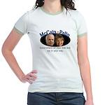 McCain/Palin On Your Side Jr. Ringer T-Shirt
