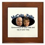 McCain/Palin On Your Side Framed Tile