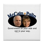 McCain/Palin On Your Side Tile Coaster