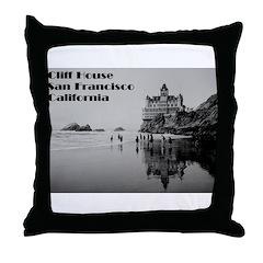 SF Cliff House Throw Pillow