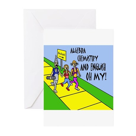 ALGEBRA, CHEMISTY, AND Greeting Cards (Pk of 10)
