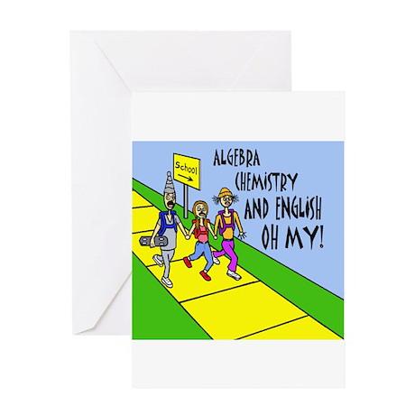 ALGEBRA, CHEMISTY, AND Greeting Card
