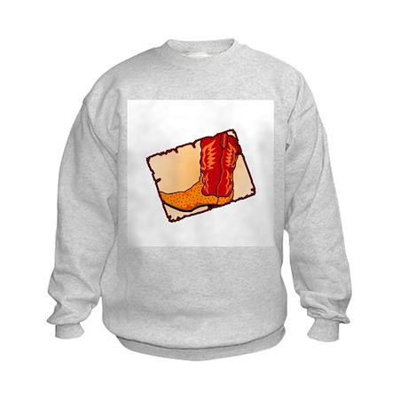 Cowboy Boot Kids Sweatshirt