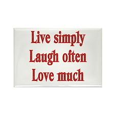 Live, Love, Laugh Rectangle Magnet