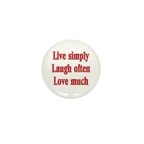 Live, Love, Laugh Mini Button