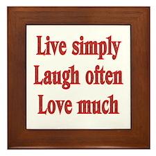 Live, Love, Laugh Framed Tile