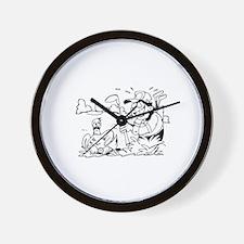 Humorous Golf Wall Clock