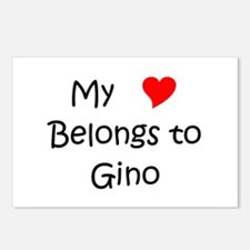 Unique Gino Postcards (Package of 8)