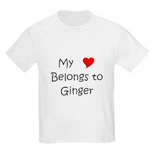 Cute My (heart) belongs to ginger T-Shirt