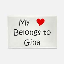 Unique Gina Rectangle Magnet