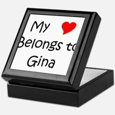 Cute Gina Keepsake Box
