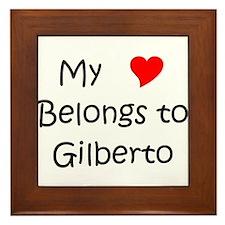 Cute Gilberto Framed Tile
