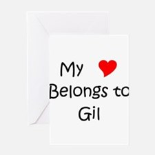 My heart belongs lazaro Greeting Card