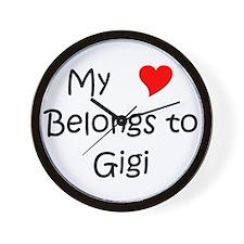 Cool My heart belongs valentin Wall Clock