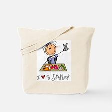 I Love to Scrapbook! Tote Bag