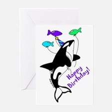 Orca Birthday Greeting Card