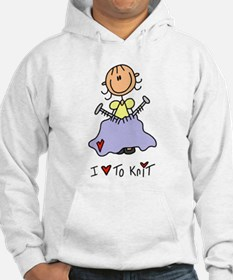 I Love to Knit! Hoodie
