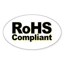 RoHS Compliant Oval Decal