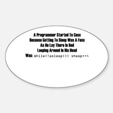 Programmer's Lymric Oval Decal