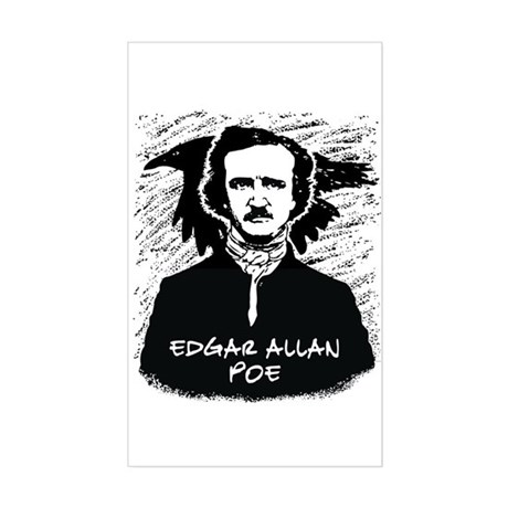 Edgar Allan Poe Rectangle Sticker